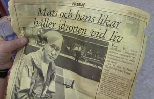 Redan i 17 februari 1989 skrev ÖP om Mats Wahström och hans värdefulla insatser för den lokala idrotten.