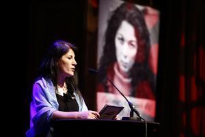 Sara Mohammad, grundare GAPF, talade i vintras då riksorganisationen GAPF arrangerade Fadimes Minnesgala på Berns salonger i Stockholm.