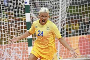 Nathalie Hagman höll kvar Sverige i matchen mot Nederländerna i OS. Arkivbild.