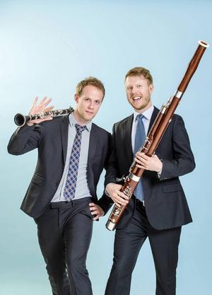 Mattias Larsson, klarinett, och Peter Liljenberg, fagott - solister vid invigningskonserten.