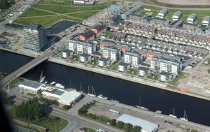 Gävle strand på Alderholmen är ett av de senaste bostadsområdena i Gävle.