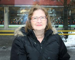 Kristina Bergman åker buss ungefär en gång i veckan och har inte drabbats av förseningar särskilt ofta.