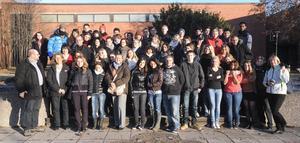 Svenska, tyska och italienska ungdomar. Alla är med i det EU-finansierade Comeniusprojektet. Föreslagen bildtext/Bildbeskrivning: elever