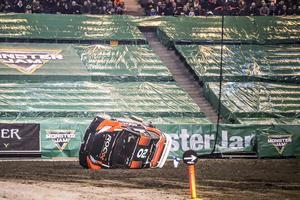 Marcus Grönholm körde och Jessica Persson satt bredvid. Det blev en riktig