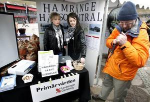 Janina Rockman hade tillsammans med kompisen Kimberly Palomäki-Glögger gjort ett arbete om Hamrånge hälsocentral.
