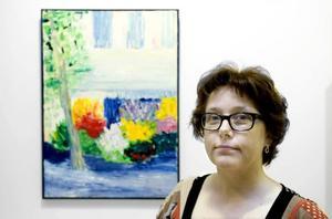 Hon kallar sig Pudelzohn. Gävlekonstnären Anna Nyberg målar gärna blommor och har ett artistnamn som är lätt att komma ihåg.