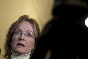 Åklagaren Katarina Stenström Ros i samband med fredagens häktningsförhandlingar i Stockholms tingsrätt.