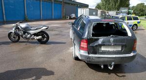 Olyckan inträffade på Nya Ågatan vid industriområdet.