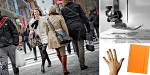 Symaskin, anteckningsblock och röda naglar är saker som ligger Kristin Olofsson Lagerqvist varmt om hjärtat.