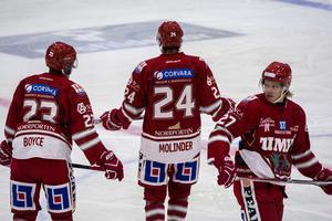 Timråkedjan med Jeremy Boyce, Andreas Molinder och Ludvig Nilsson.