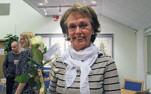 Agneta Blomquist, samhällsbyggnadsenheten, blev väldigt glad över den fina motiveringen till varför hon nominerats.