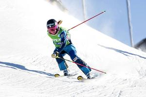 Sandra Näslund kom sjua i nattens världscupstävlingar i OS-backen i Pyeongchang.