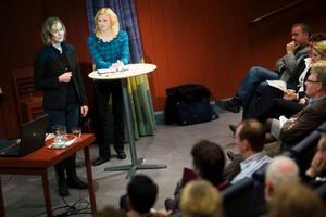 """""""Mod, vilja och jävlaranamma"""", är vad som driver Marlene Ström och Helena Engberg i företaget Trampolin PR. Foto: Håkan Luthman"""