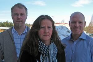 Nicklas Westin tillsammans med Eva Friskman och Hans Andersson hoppas på stor uppslutning till årets Gästrik Konst