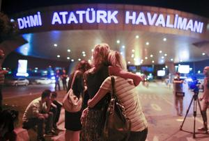 Flygplatsen där attentatet ägde rum.
