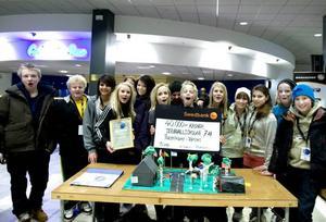 Jernvallsskolan 7AB vann tävlingen för högstadiet.