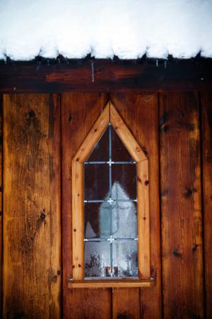 Interiör från stavkyrkan.