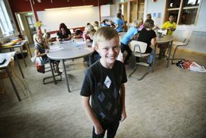 12-årige Kristoffer Fröjd var glad över de nya, fina lokalerna.
