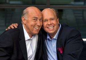 Ingvar Oldsberg och Lasse Kronér drar ett tungt lass på helgerna för SVT i höst. Foto: Magnus Gotander/SVT