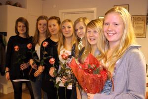 Isabella Rosin, närmast kameran, röstades fram till 2009 års lucia i Färila. Hennes tärnor är, från vänster, Sandra Maria Skog, Jenny Fredriksson, Maya Nordborg, Anja Ahlzén, Michelle Evaldsson och Elin Jonsson.