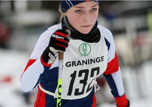 Hulda Forsberg från Kramfors såg väldigt samlad och koncentrerad ut.
