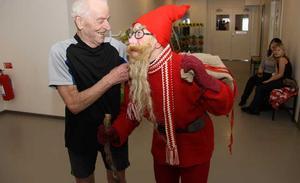 Arne Wettlerstam, 82 år. Trogen motionär på Friskis och Svettis. I år valde han att träna på julafton också.