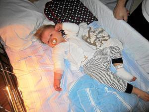 Fick diabetes tidigt. Malins brorson Sebastian fick diabetes typ 1 bara 13 månader gammal. Idag är han fyra år. Det är Sebastian som väckt Malins engagemang. Foto: Privat