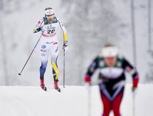 Stina Nilsson har fått till en fin helg i Ruka.