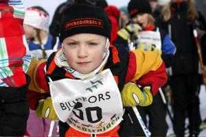 Över 200 unga deltagare var med på Duvedsrajden i Åre. Här ser vi Gry Dahlgren från Spikbodarnas Idrottsklubb.
