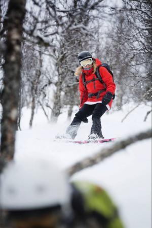 – Det var riktigt kul att åka i Tottskogen, säger Sandra Jönsson från Östersund.