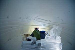 Hotellets sovsäckar ska hålla värmen i ner till -35 grader.