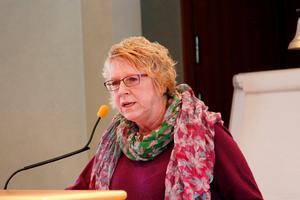 Ewa Lindstrand svarade på interpellationen under det senaste mötet i kommunfullmäktige.