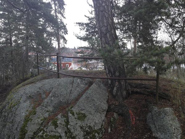 Parkområde på norra Djäkneberget