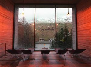 Termalbadet i Vals. Av arkitekturpristagaren Peter Zumthor.