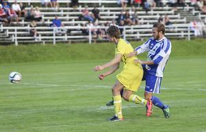Lars Olsson satte tryck framåt för Forsa – men nådde inte ända fram.