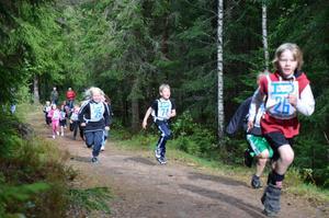 Joel Kromm sprang snabbt i terrängen.