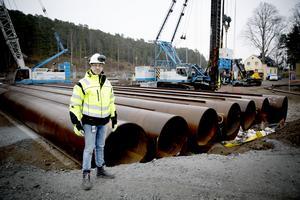 Christer Westergren är byggledare i Mälarprojektet.