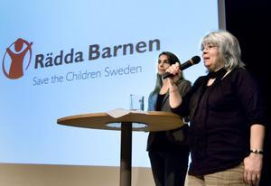 Ann-Helen Sjöberg och Margareta Elinsky, Rädda Barnen.