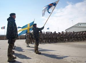 Svenska soldater på plats i Afghanistan 2012.
