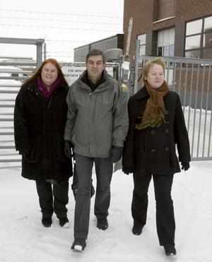 Arbetsförmedlarna Monica Andersson, Jonny Anderssom och Agneta Bertilsson var nöjda med företagsbesöken trots att de inte lyckats hämta hem några nya jobb.