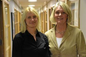 Driftschef och vd. Carina Royson och Jeanette Berggren utnämndes på tisdagen till nya chefer inom Norabostäder.