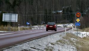 En av vägarna som föreslås få en hastighetssänkning är riksväg 84, mellan Hudiksvall och Ljusdal.