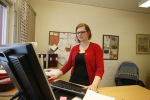 Kristina Gernes Källström började sitt arbete på kontoret. Men tanken är att hon ska vara ute bland ungdomarna framöver.