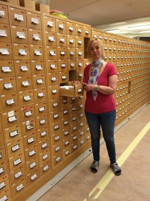 Annika Karlholm, forskningsarkivarie på Dialekt- och folkminnesarkivet i Uppsala.