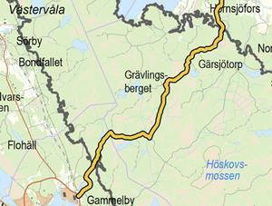 Vägen börjar vid Gammelby och går genom skogen till Hörnsjöfors. Den nya vägen gör att naturreservatet kommer att bli väldigt lättillgängligt för allmänheten.