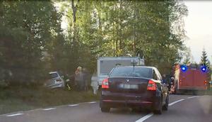 En singelolycka inträffade strax efter klockan 18 på E45 vid Överhogdal.