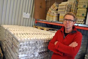 Björn Johansson fick frågan från en besökare hur många ägg han själv äter per dag.