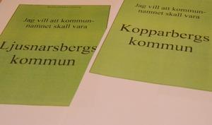 Nu ska valsedlar beställas. Tre valalternativ blir det, Kopparbergs kommun, Ljusnarsbergs kommun eller blankröst.