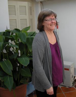 Bodil Nordström Karydaki på Svenska Atheninstitutet. Hon kommer från början från Falun.