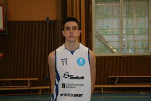 Så här ser han ut, Daniel Johansson, den senaste landslagsmanen från Jämtland och Östersund Basket.